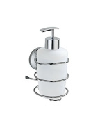 Wenko Soap Dispenser Fiorina Magic-Loc Mount without Drilling Stainless Steel Shiny Rustproof 20110100