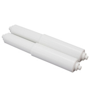 2x White Plastic Replacement Toilet Paper Roll Holder Stretch Roller Spindle