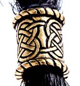 Celtic Knots Bronze Pearl Bead Hair Beard