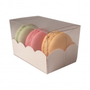 Macaroon box with clear sleeve - small