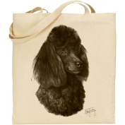 Mike Sibley Poodle Cotton Natural Bag