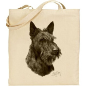 Mike Sibley Scottish Terrier Cotton Natural Bag