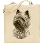 Mike Sibley Cairn Terrier Cotton Natural Bag