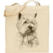 Mike Sibley West Highland Terrier Cotton Natural Bag