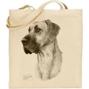 Mike Sibley Great Dane Cotton Natural Bag