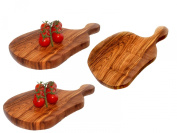 3 Olive Wood Cheese Board / Chopping Paddle