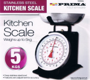 BLACK Retro Style Mechanical Kitchen Scales Baking Weighing 5 kg /11lb Scale NT