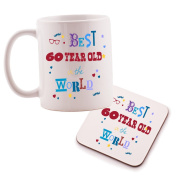 Keep Calm You're Only 60 mug and Coaster set - birthday gift idea. Perfect present for him, her, son or daughter