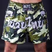 Blitz Kids Muay Thai Fight Shorts - Camo