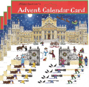 Alison Gardiner Pack of 4 Traditional Advent Calendar Cards - Christmas at the Palace