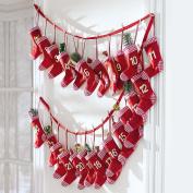 Advent Calendar Red Sock