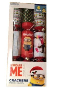 Despicable Me Christmas Crackers 6 pack with Novelty Gifts