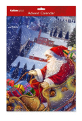 Large Advent Calendar Santa Sleigh with envelope 38 x 28 cm