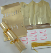 6 30cm Gold Foil Card +Gold Hats Make Your Own Christmas Crackers