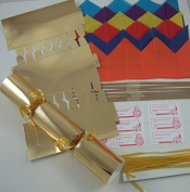 6 30cm Gold Foil Card Make Your Own Christmas Crackers