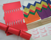 6 30cm Red Make Your Own Christmas Crackers
