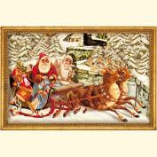 Christmas Sleigh with envelope 24 x 34 cm Traditional German Advent Calendar Coppenrath