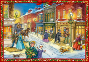 Charles Dickens Christmas World A4 Traditional German Advent Calendar Coppenrath