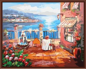 Paint By Numbers Kits Canvas Mounted on Wood Frame with Brushes and Paints for Adults Children Seniors Junior DIY Bigginner Lever Arcylics Painting Kits on Canvas