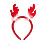 Fluffy Christmas Reindeer Antler Alice Band Headband Hair band Adults kids