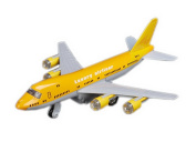 Air Force One Plane Model Diecast Models for Kids Best Birthday Gift YELLOW