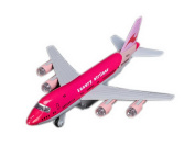 Air Force One Plane Model Diecast Models for Kids Best Birthday Gift PINK