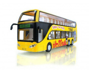 Diecast Chinese Bus Model Double Decker Bus Toy YELLOW
