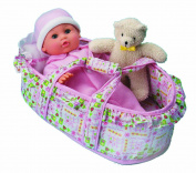 Small World Toys All About Baby Dolls - Little Bassinet Baby Doll - Beth