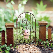 Miniature Fairy Garden Vine Gate with Pot