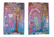 32cm Mermaid Fashion Dress Up Doll - Accessories Included - Girls Toys