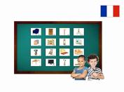 Fiches de vocabulaire - Salle de séjour - Living Room Flash Cards in French