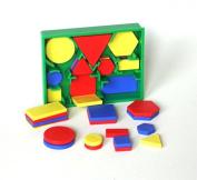 2D SHAPE ACTIVITY - MINI POCKET SET - Circles, Triangles, Squares, Rectangles, Hexagons