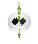 Solar Radiometer Lightmill hanging 100mm clear/green Radiometers by Crookes