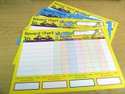Children's, Kids' Reward Charts - WITH FREE EXTRA STICKERS FROM MINILABEL - to Praise & Reward Good Behaviour