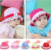 HuntGold 1X Infant Cotton 3-20 Months Baby Girl Boy Hearts Polka Dot Cute Cap Sun Hat