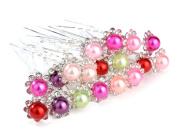 ILOVEDIY 20pcs Mixed Colour Hair Pins Pearl Bridal Hair Accessories for Women