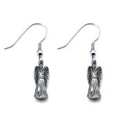 Inox Doctor Who Weeping Angels Dangle Hook Earrings