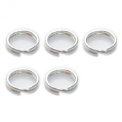 5 x 6mm split rings sterling silver .925 charm keyrings rings PASS-FSPR600-XX05