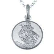 Sterling Silver St Christopher Pendant with 46cm Chain