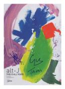 alt-J Autographed Signed A4 21cm x 29.7cm Photo Poster