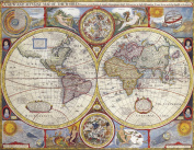 A3 Print - Antique Map of the World - John Speed - 1626