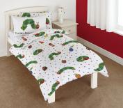 The Very Hungry Caterpillar 121 x 150 cm/ 42 x 62 cm 100 Percent Cotton Junior Duvet Plus Pillowcase Set, Multi-Colour