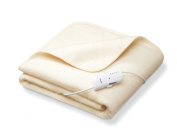 Monogram Heated Throw Perfect for Chilly Nights, Cream