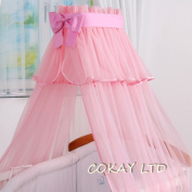 LUXURIOUS CANOPY DRAPE ONLY to fit Baby Cot or Cot Bed 320cm-PINK