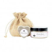 Lava Love Face and Body Mask (240ml) with Grey Heart Soap (100ml), Mother's Day Spa Kit