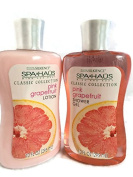Spa Haus Classic Collection Pink Grapefruit Shower Gel & Lotion Set 300ml Each
