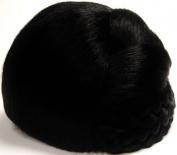 BLISS Dome Wiglet Chignon Bun Hairpiece by Mona Lisa 1-Jet Black
