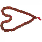 Kantha Rudraksha Rudraksh Mala with Cotton Thread 32+1 Bead