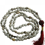 Odishabazaar White Vaijanti Mala Beads for Vashikaran Attraction and Devi Siddhi
