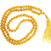 Odishabazaar Yellow Jade Japa Mala for Removing Inner Doshas Awakening Chakras
